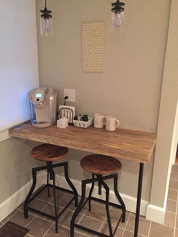 Diner style seating area